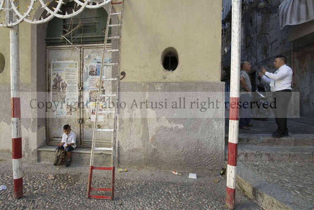 """"""" Madonna della Mercede """" Procession, Capo district. Palermo. Sicily"""
